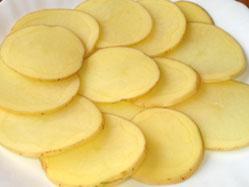 Tagli tondi delle patate