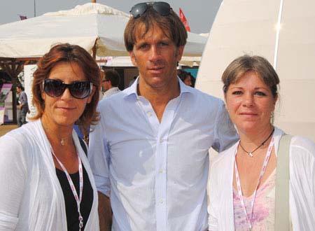 Nicoletta e Federica Spelta (Alimentipedia) con Davide Oldani