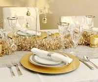 Tavola di Natale color oro