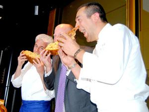 Danilo Angè e Federica Spelta e gli chef Angè e Fabrizio Ferrari con Dario Loison