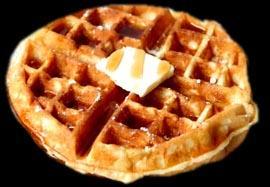 Waffles americani con sciroppo d'acero
