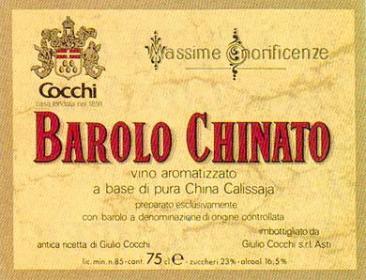 Etichetta del Barolo Chinato