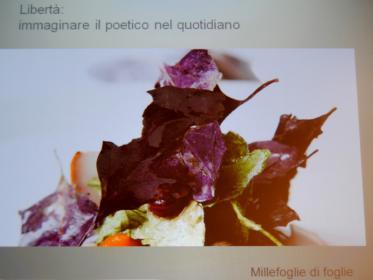 Bottura: millefoglie di foglie