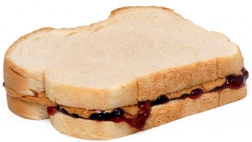 Sandwich con burro d'arachidi e marmellata
