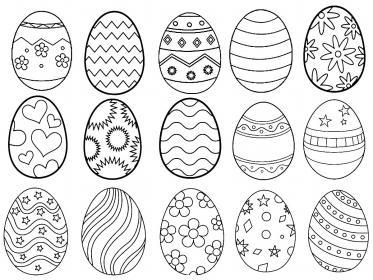 Disegni per decorare le uova di Pasqua