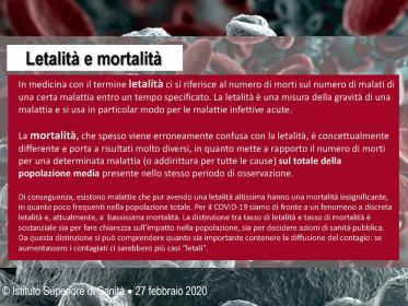 Significato di Letalità e mortalità