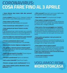 #iorestoacasa. Manifesto