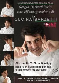 Locandina Inaugurazione Cucina Barzetti in Ceba