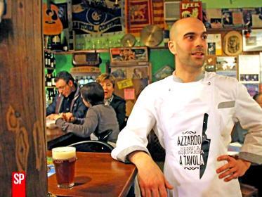 Chef Matteo Girardi nel suo locale