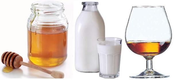 Miele, latte e brandy