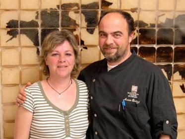 Marco Parizzi e Federica Spelta al ristorante Parizzi