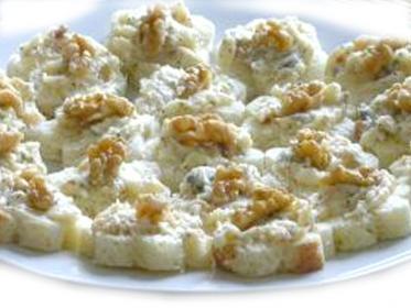 Tartine gorgonzola e brandy