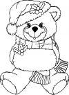 Disegno orsetto natalizio per decori con ghiaccia