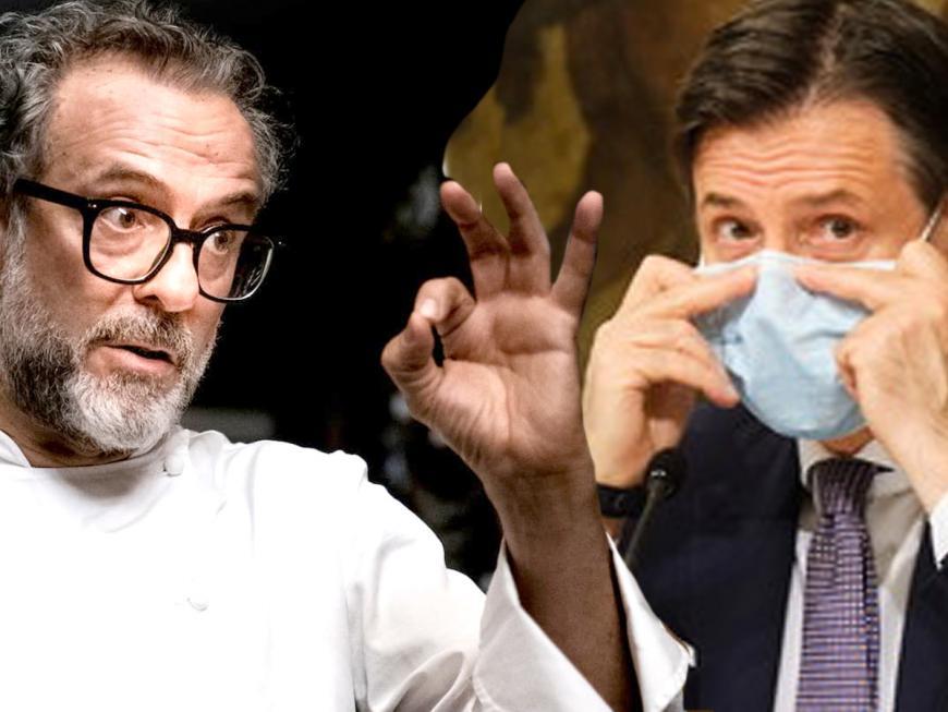 Massimo Bottura e Giuseppe Conte