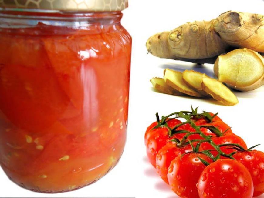 Confettura di pomodori allo zenzero