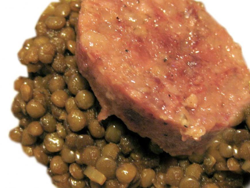 Mini cotechino e lenticchie