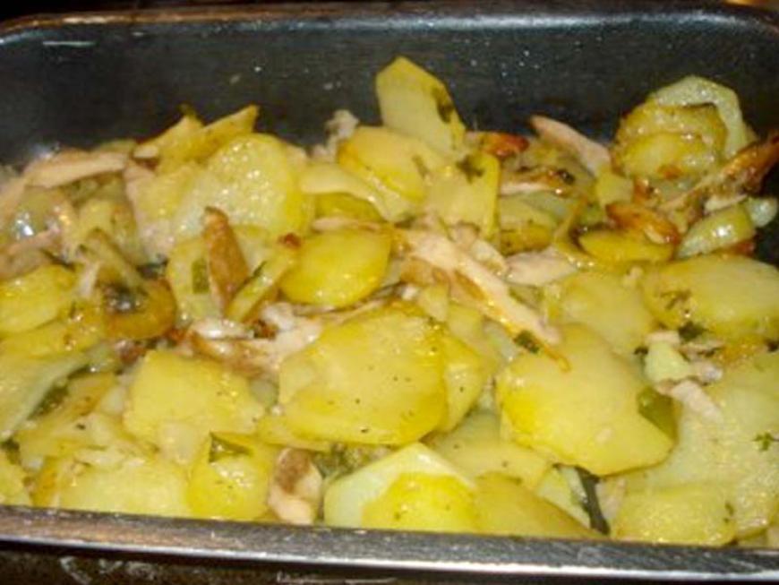 Terrina di funghi e patate