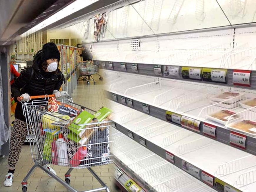 Supermercati svuotati per psicosi