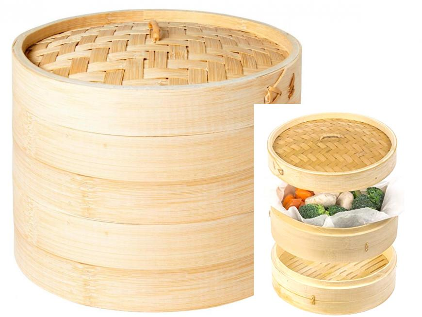 Vaporiera in bambù