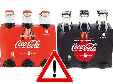 Coca Cola Original Taste e Zero Zuccheri richiamate per possibile presenza di filamenti di vetro