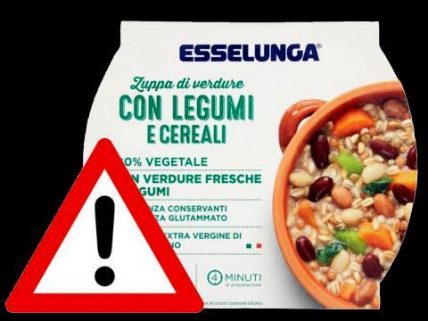Esselunga richiama per rischio botulino la Zuppa di verdure con legumi e cereali