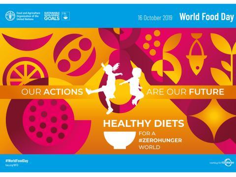 #famezero. Oggi 16 ottobre è la Giornata Mondiale dell'Alimentazione