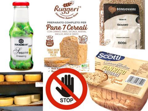 Formaggella, Panriso integrale Scotti, preparato per pane ai 7 cereali, dressing Kikkoman e semi sesamo Bongiovanni, gli ultimi richiami