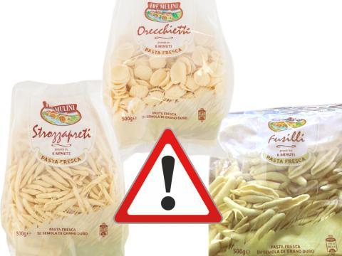 Fusilli, orecchiette e strozzapreti freschi ritirati da Eurospin per possibile presenza di soia non indicata in etichetta
