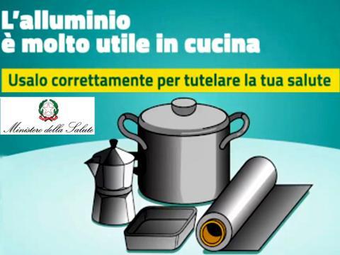 Dal Ministero della Salute i modi corretti per usare l'alluminio in cucina