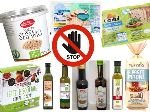 Nuove allerte per prodotti con semi di sesamo. Coinvolti oli e prodotti venduti da Esselunga, Penny, Carrefour, Crai e Coop