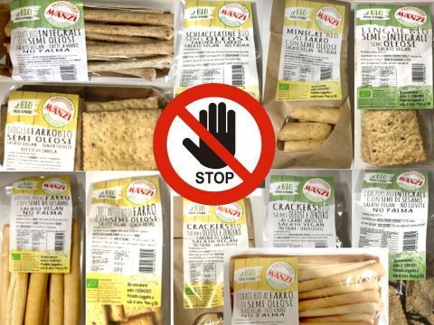 Richiamati dalla Pasticceria Biologica Manzi oltre dieci prodotti da forno sempre a causa della contaminazione dei semi di sesamo