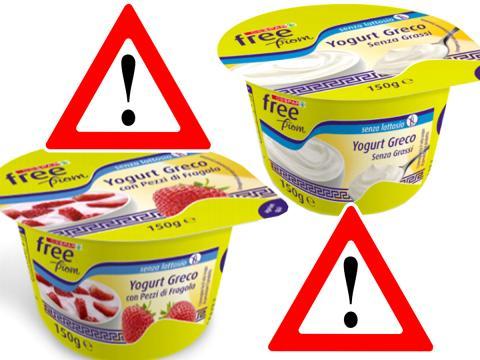 Richiamato per presenza di lattosio lo Yogurt greco senza lattosio Despar Free From