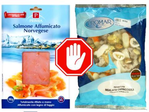 Richiamato salmone affumicato Primia e preparato per capricciosa Promar per possibile rischio microbiologico