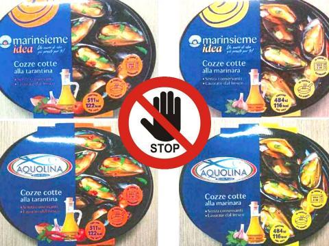 Rischio tossicità acuta per biotossine algali in cozze alla marinara e tarantine