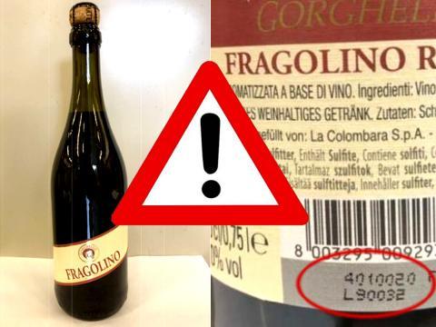 Possibile presenza di ocratossina A oltre i limiti in un lotto di Fragolino Rosso Gorghello