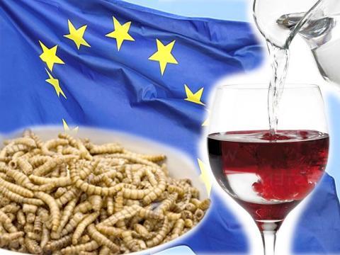 Vino annacquato e larve della farina a tavola, le ultime proposte shock della UE